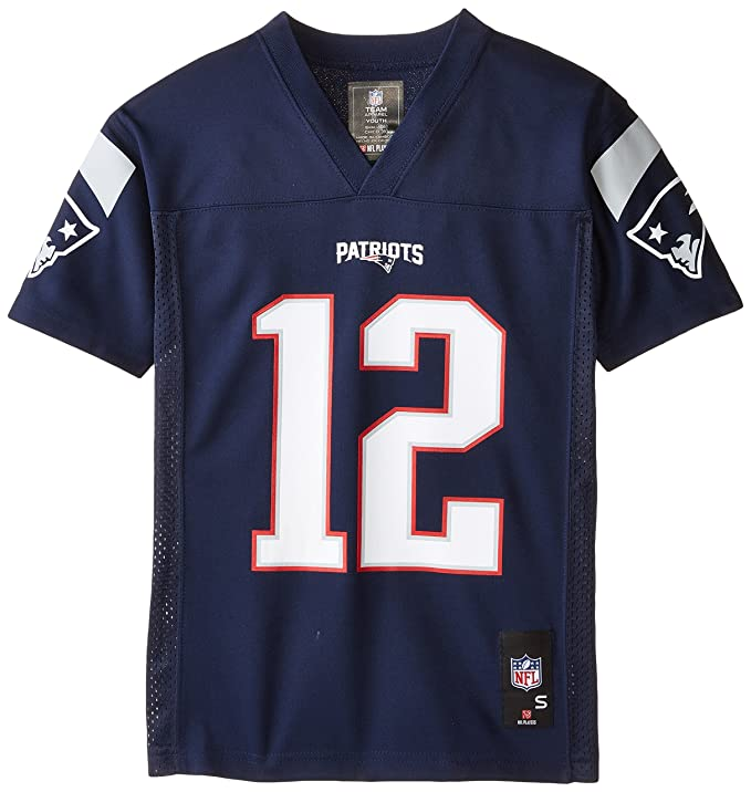31d4d6f5 NFL Youth Boys 8-20 Tom Brady New England Patriots Boys -Player Name  Jersey, Dark Navy, S(8)