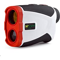 Easy Green 1300 Golf Rangefinder - Pin Lock & Slope Compensation Technology (1,300 Yard Range), White