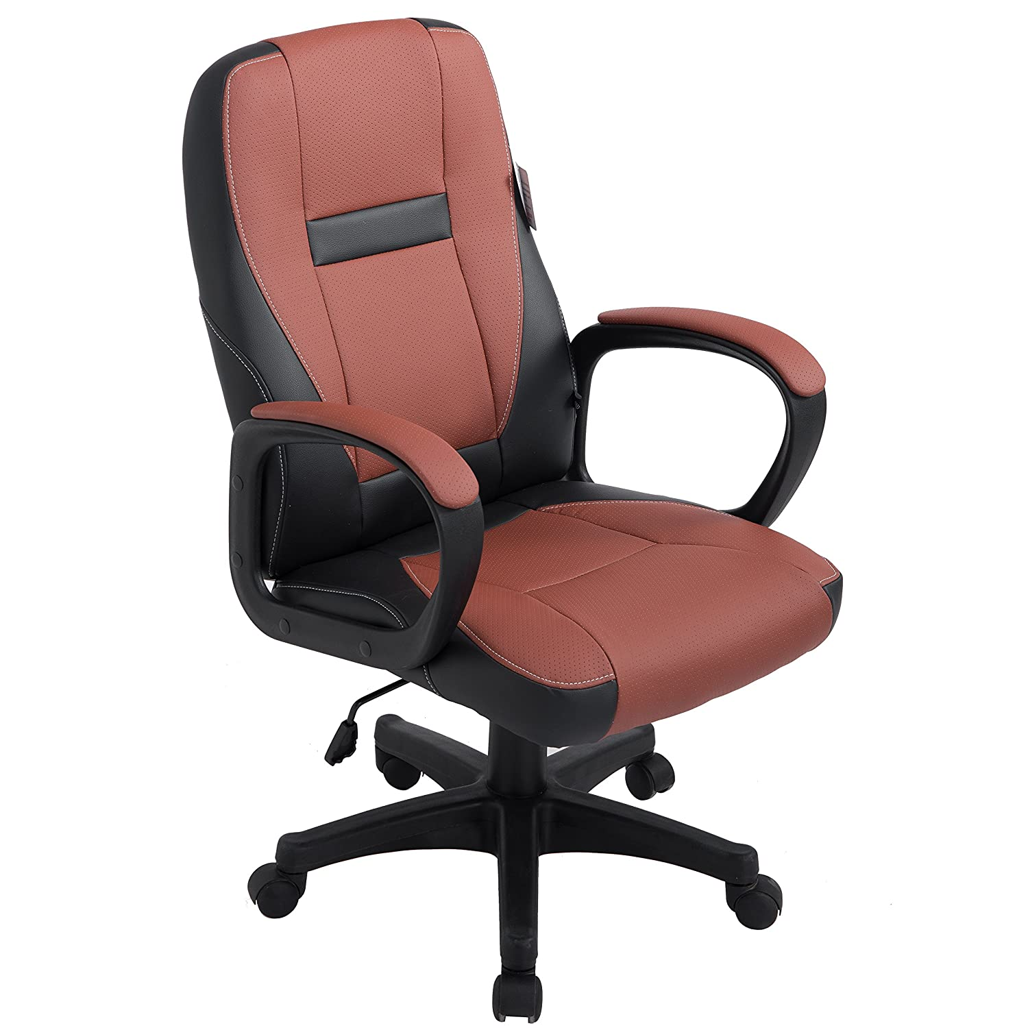 Brand New Design Swivel Pu Leather Brown Color Office Chair