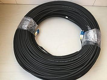 LC-LC Duplex Cable de fibra óptica Armored para Blackmagic Sony Ikegami 100