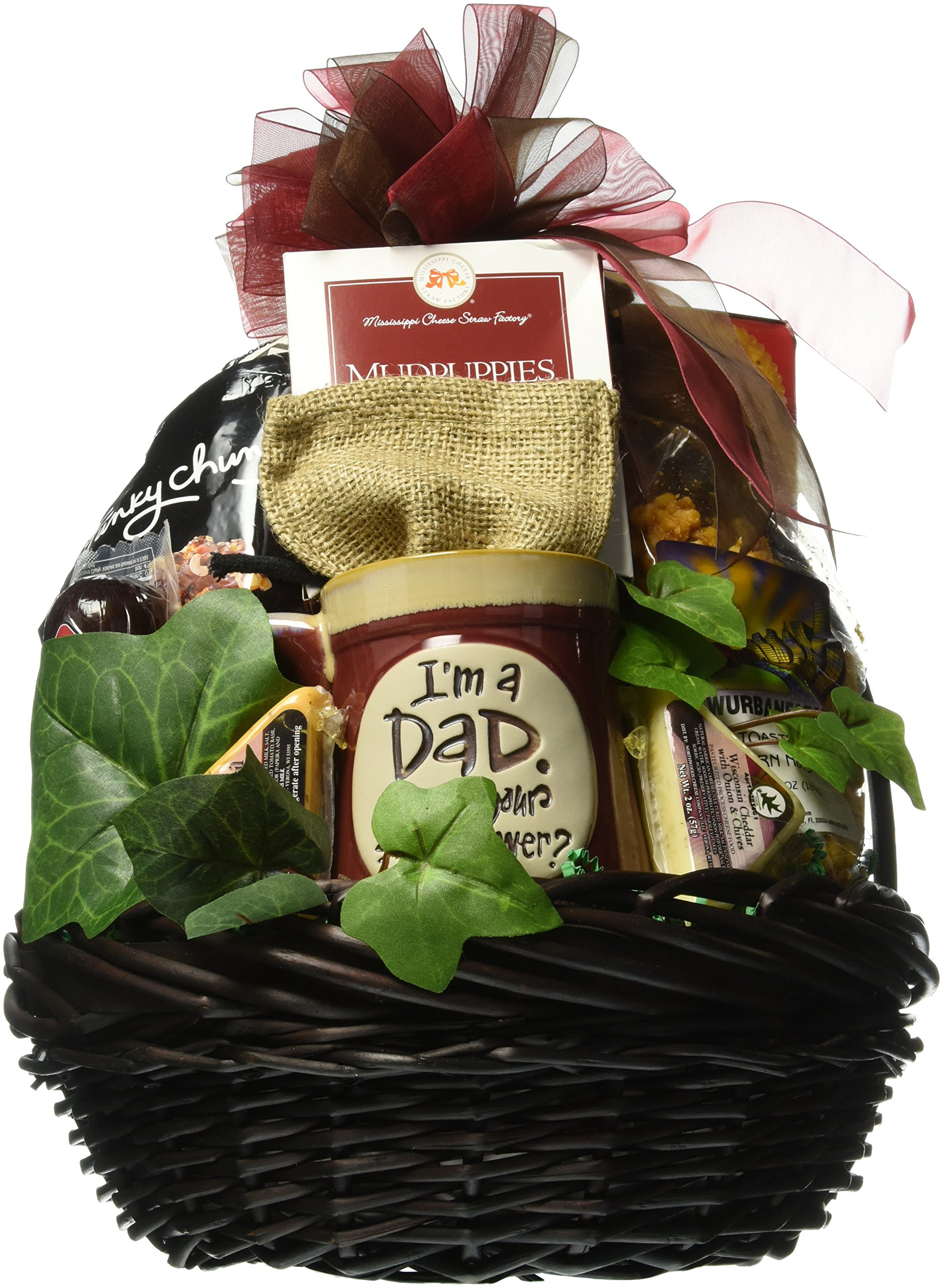 Gift Basket Village - A Great Dad! Gift Basket for Dad's - Loaded With Dad-Snacks, Makes A Great Birthday Or Father's Day Gift Basket For Dad