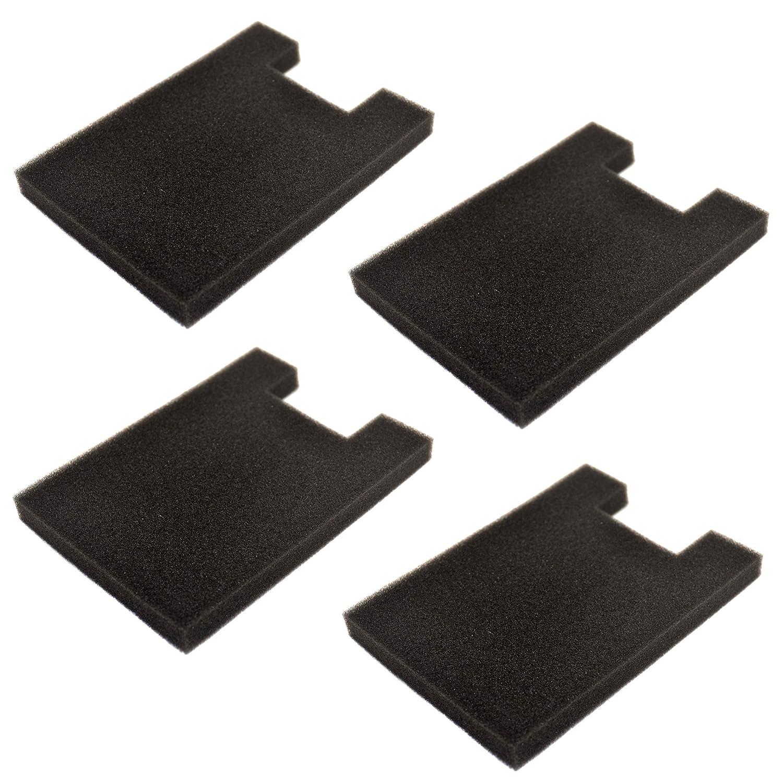 HQRP 4-Pack Foam Filter for Eureka SurfaceMax 300 2976AVZ / Surface Max 200 2977AV Upright Vacuum Cleaner Coaster