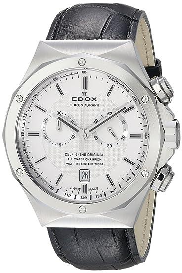 EDOX 10107 3C AIN - Reloj de pulsera hombre, color Negro
