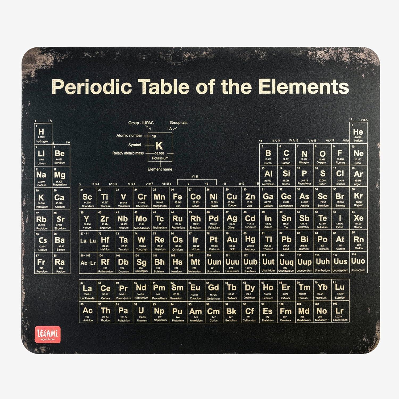 210/x 180/x 2/mm /Tappetino per mouse/ nero /& marrone tappetino /Tavola periodica degli elementi legami/