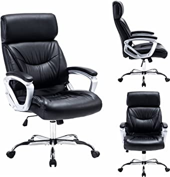 Amazoncom Modern High Back Leather Executive Office Chair