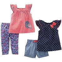 Simple Joys by Carter's Baby Girls' Infant 4-Piece Playwear Set