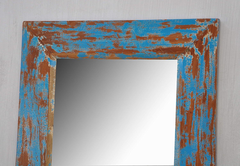 Amazon.de: Holz Spiegel Rahmen türkis Farbe Style Home Decor Spiegel ...