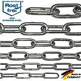 Cadena de acero inoxidable V4A NietFullThings DIN 5685,DIN 763, inoxidable, de eslabones