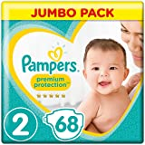 Pampers - New Baby - Couches Taille 2 (4-8 kg, 3-6 kg) - Jumbo Pack (x68 couches)