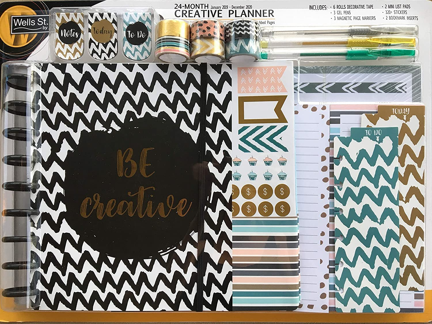 24-Month Creative Planner w/Stickers, List Pads, Inserts and More!