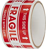 """TapeCase """"Fragile, This Side Up"""" Label - 50 per pack (1 Pack)"""