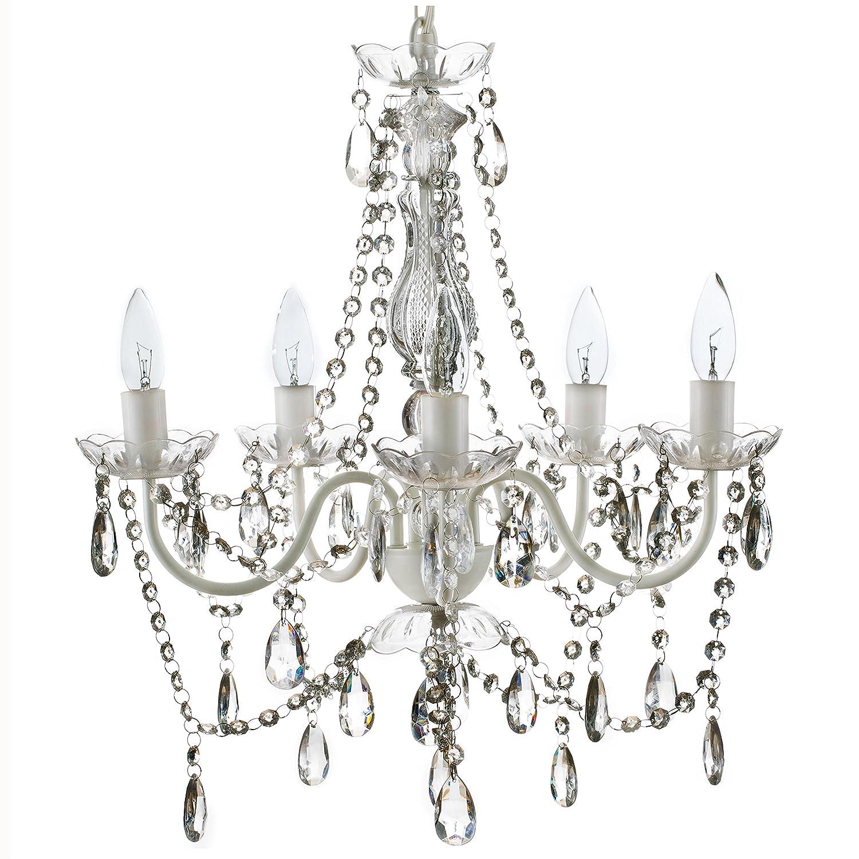 The Original Gypsy Color 5 Light Medium Crystal Chandelier H21\