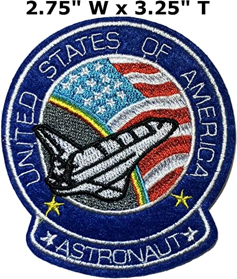 Sew On Patch Badge NASA USA Logo Space ship Spaceman Patch Iron On