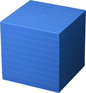 School Smart Base Ten Components - Plastic Cube 10 x 10 x 10 cm - Each