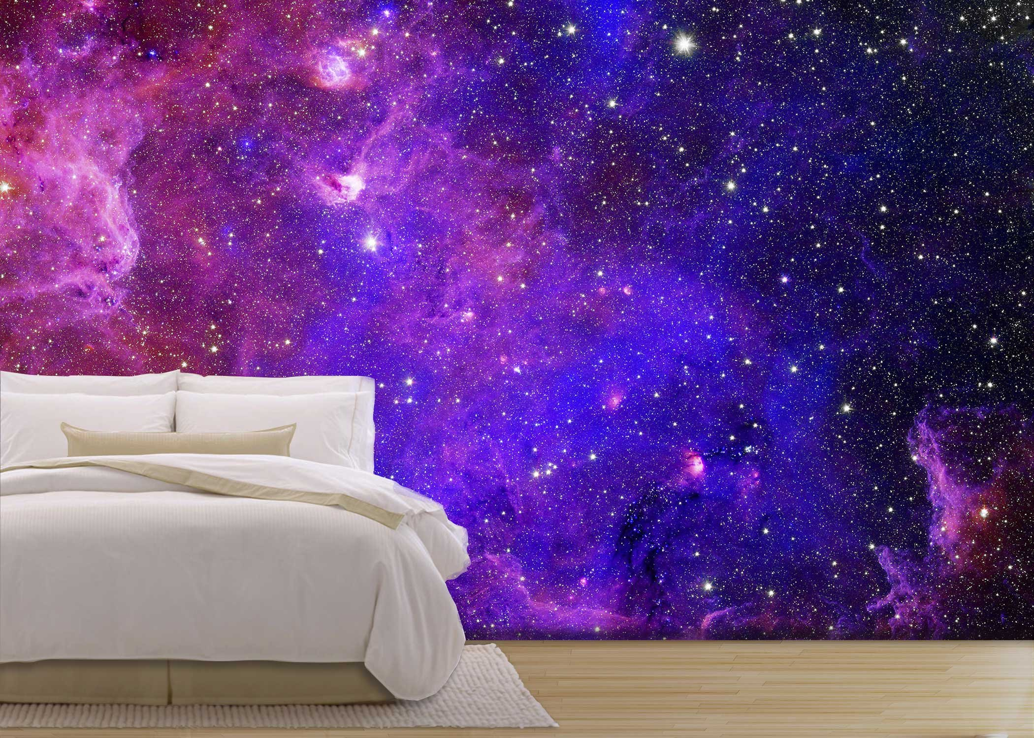wall26 - Galaxy stars. Abstract space background. Elements of this image furnished by NASA - Removable Wall Mural | Self-adhesive Large Wallpaper - 100x144 inches