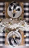 DII Cotton Buffalo Check Plaid Square Tablecloth