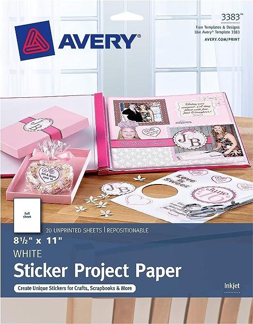 1 /álbum Avery Zweckform color carb/ón /Álbum de fotos para ni/ños papel siliconado en blanco
