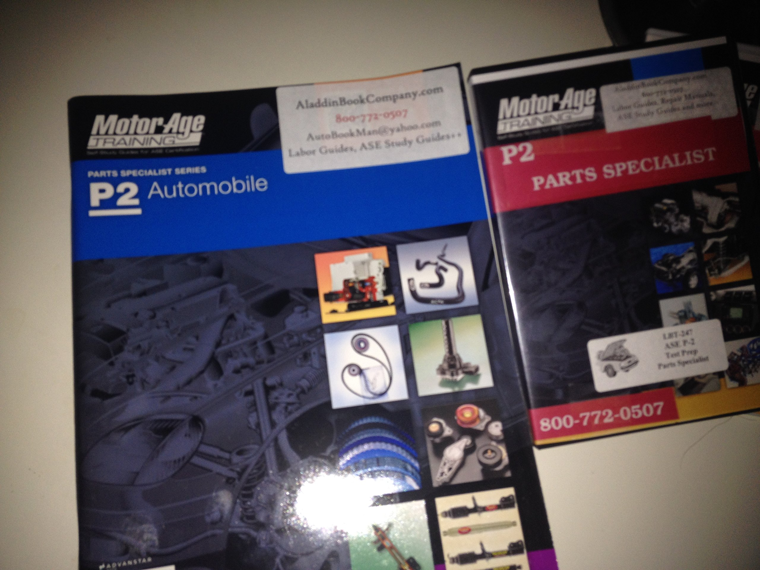 P2 Ase Parts Specialist Dvd Training Package Book Motor Age Avi
