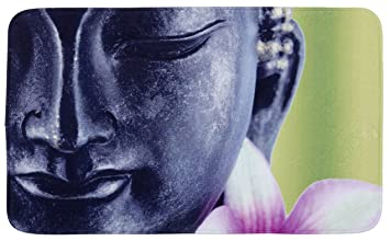 Wenko 20945100 Badteppich Buddha Duschvorleger Kunststoff