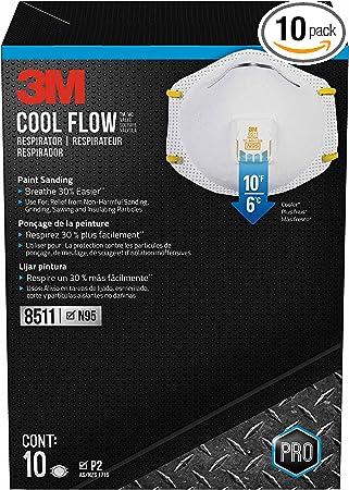 3m 10-pack 8511 Respirator Valve N95 Flow Cool