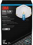 3M Valved Respirator, 8511PB1-A-PS, Paint Sanding, White, 10 Pack