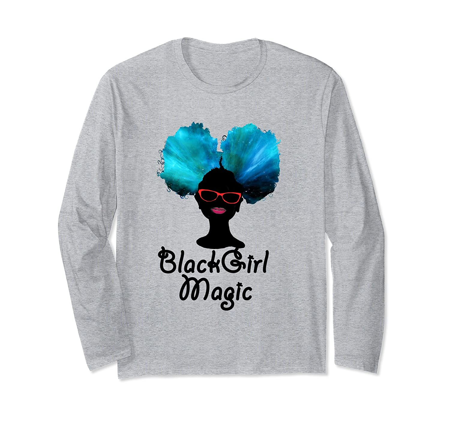 7bfbd081 Amazon.com: Black Girl Magic Afro Puff Long Sleeve T-Shirt: Clothing