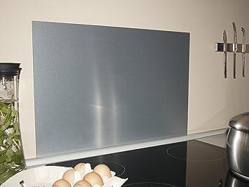 PAULUS Spritzschutz Küche Herd Küchenrückwand Aluminium gebürstet ...