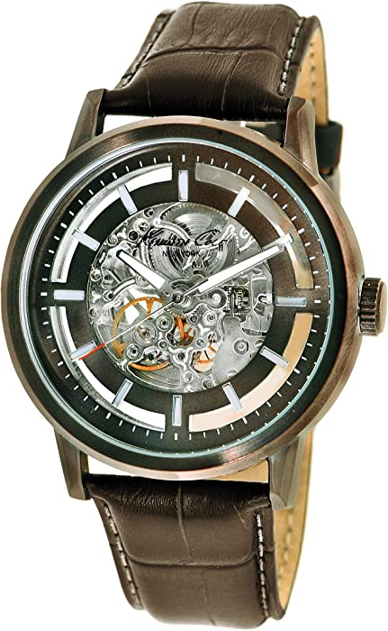 8a6f4c9943b Kenneth Cole New York Men s KC1838 Automatic Automatic Clear Dial Skeleton  Back Watch