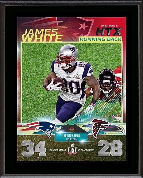sports shoes 8c701 ade68 Amazon.com: James White New England Patriots 10.5'' x 13 ...