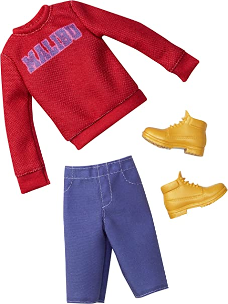 Barbie Ken Fashion Pack Outfit Malibu Ombre Tee Shorts Shoes NEW
