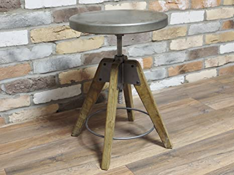Stile industriale sgabello rotondo in metallo corridoio furniture