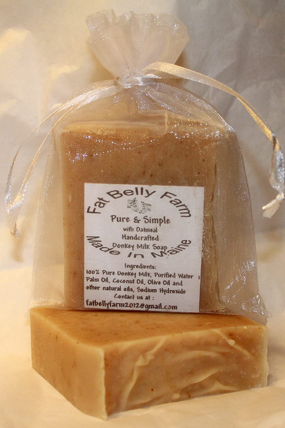 Donkey Milk Soap (Pure & Simple Oatmeal) Made in Maine