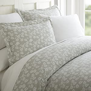 Becky Cameron Wheatfield Patterned Duvet Cover Set, King, Gray