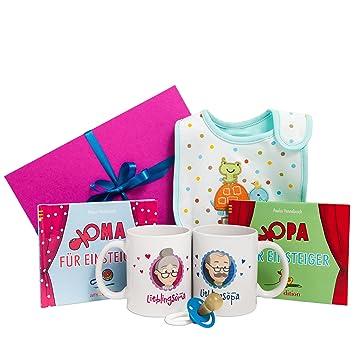 Geschenk Für Oma Und Opa Mit Zweimal Buch Zweimal Tasse