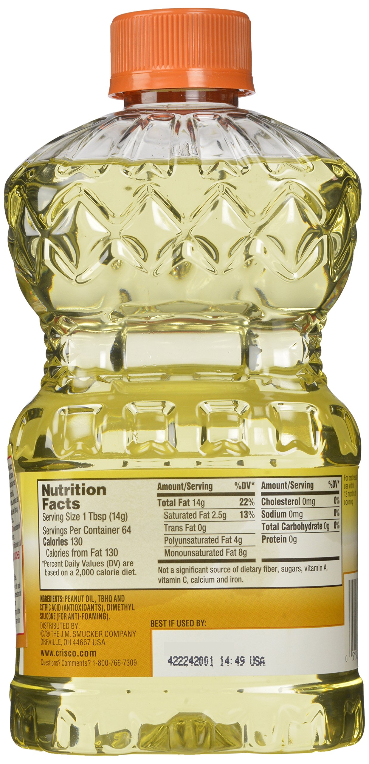 Crisco Pure Peanut Oil, 32 Ounce (Pack of 9) by Crisco (Image #6)