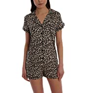 Blis Women's Short Sleeve Button Down Sleep Shirt & Shorts PJ Set - Ladies Lounge & Sleepwear