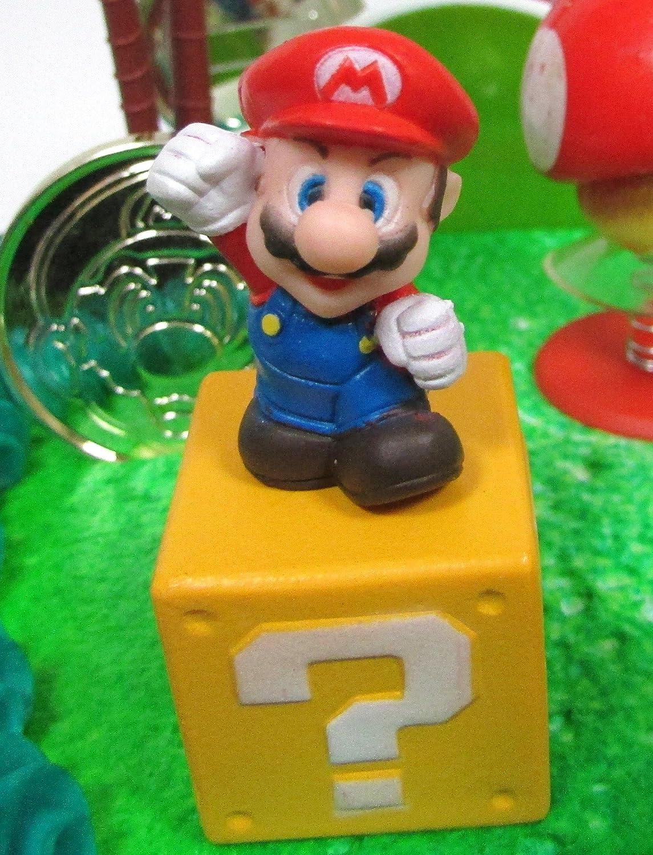 Amazon.com: Super Mario Hermanos Juego Deluxe Escena torta ...