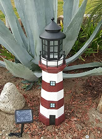 Amazon Com Garden Sunlight C5116b1 Solar Lighthouse Garden Decor