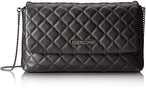 58ce2f8f605 Love Moschino Borsa Metallic Nappa Pu Nero, Women's Shoulder Bag, Black,  5x15x27 cm