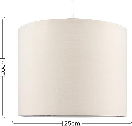 Kleiner f/ür H/änge- und Pendelleuchte oder Tischlampe MiniSun moderner und roter Lampenschirm in Zylinderform
