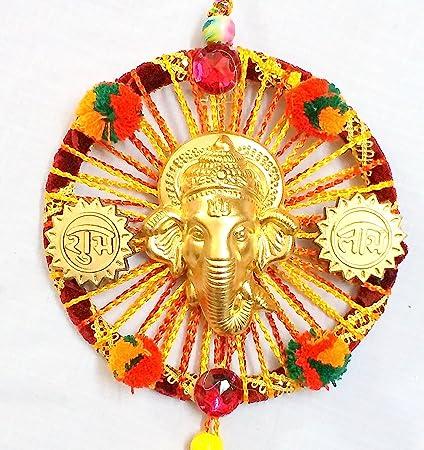 Buy 99DailyDeals Ganesha 6*6 Wall Hanging Showpiece Diwali ...