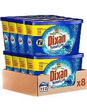 Dixan Duo Caps Detergente en Cápsulas, 14 Dosis - Pack de 8, Total: 112 Lavados