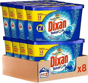 Dixan Detergente en Cápsulas, 8 cajas de 14 Dosis, total 112 ...