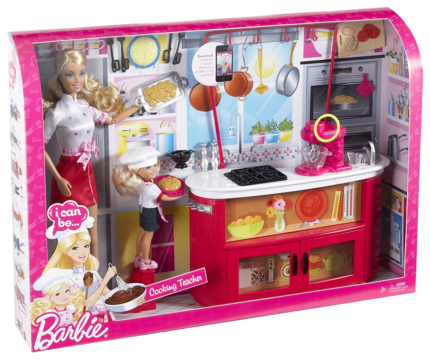 image result for barbie i can be cooking teacher doll playset. Black Bedroom Furniture Sets. Home Design Ideas