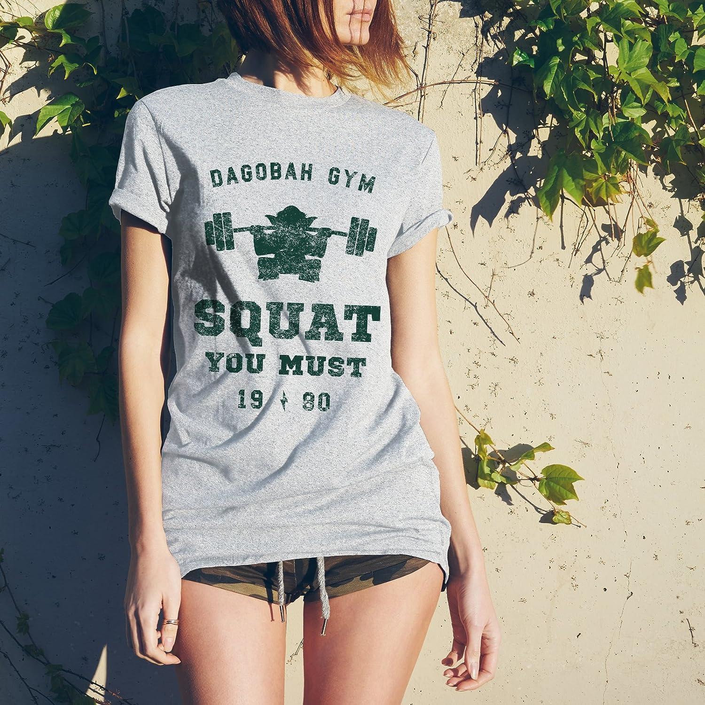 a499ce210 Amazon.com: UGP Campus Apparel Squat You Must - Workout Gym Jedi Space  Galaxy T Shirt: Clothing