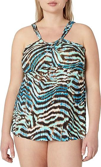 Coastal Blue Womens Plus Size Bikini Top