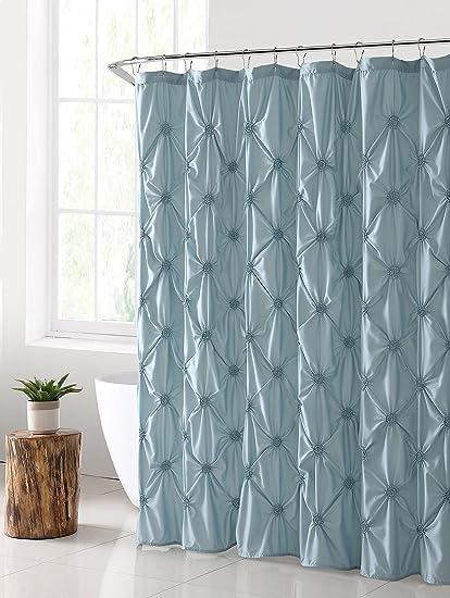 VCNY Home Floral Burst Shower Curtain 72x72 Aqua