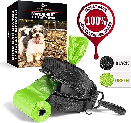 Handmade Dog Supplies Mini Tote Dog Poop Bag Holder in Red Leather Dog Waste Bag Holder