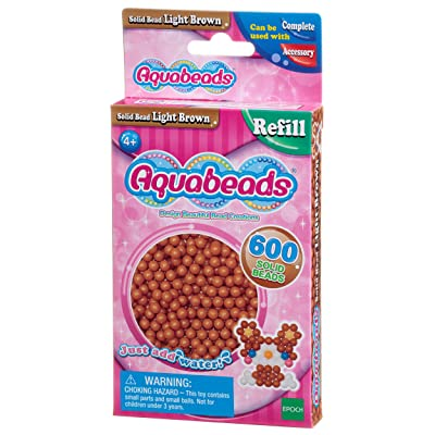 AQUA BEADS Aquabeads 32608 Solid Bead Pack - Light Brown: Toys & Games