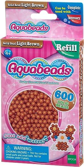 Aquabeads 32608 Perlen Bastelperlen nachf/üllen hellbraun